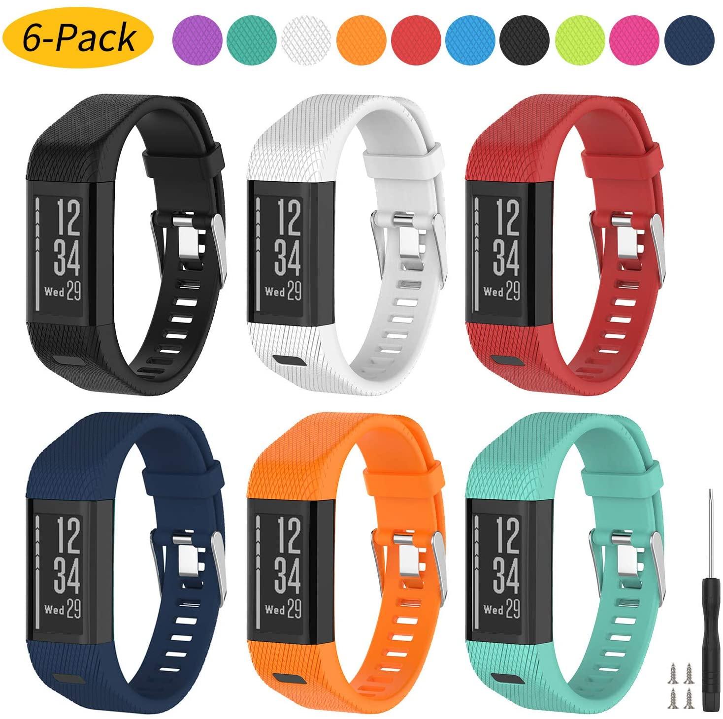 Vozehui Compatible with Garmin Vivosmart HR+ Watch Bands, Soft Silicone Replacement Wristband Accessories, Sport Wristband Strap for Garmin Vivosmart HR Plus (NOT for Vivosmart HR)