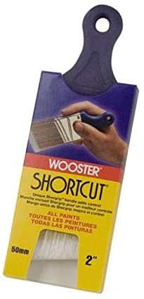 Wooster Brush Q3211-2 Shortcut Angle Sash Paintbrush, 2-Inch, 2 Inch, White, New Version