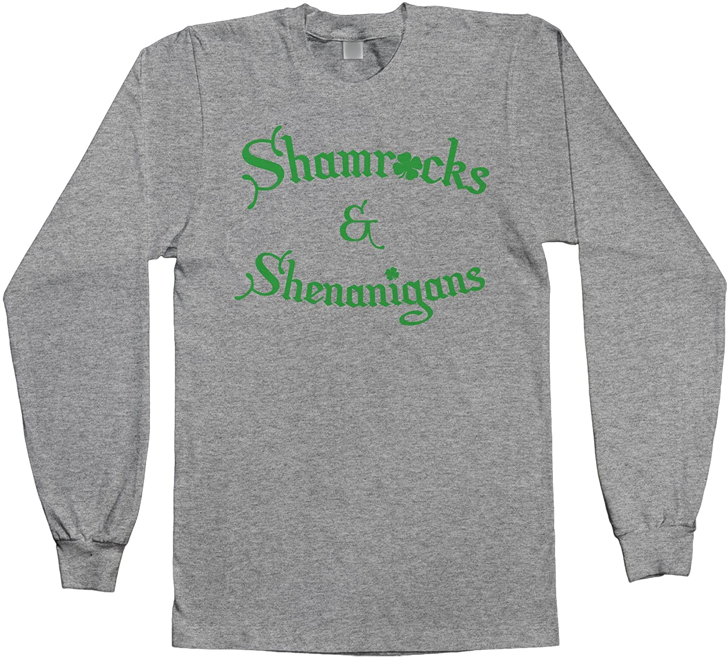 Threadrock Mens Shamrocks & Shenanigans Long Sleeve T-Shirt