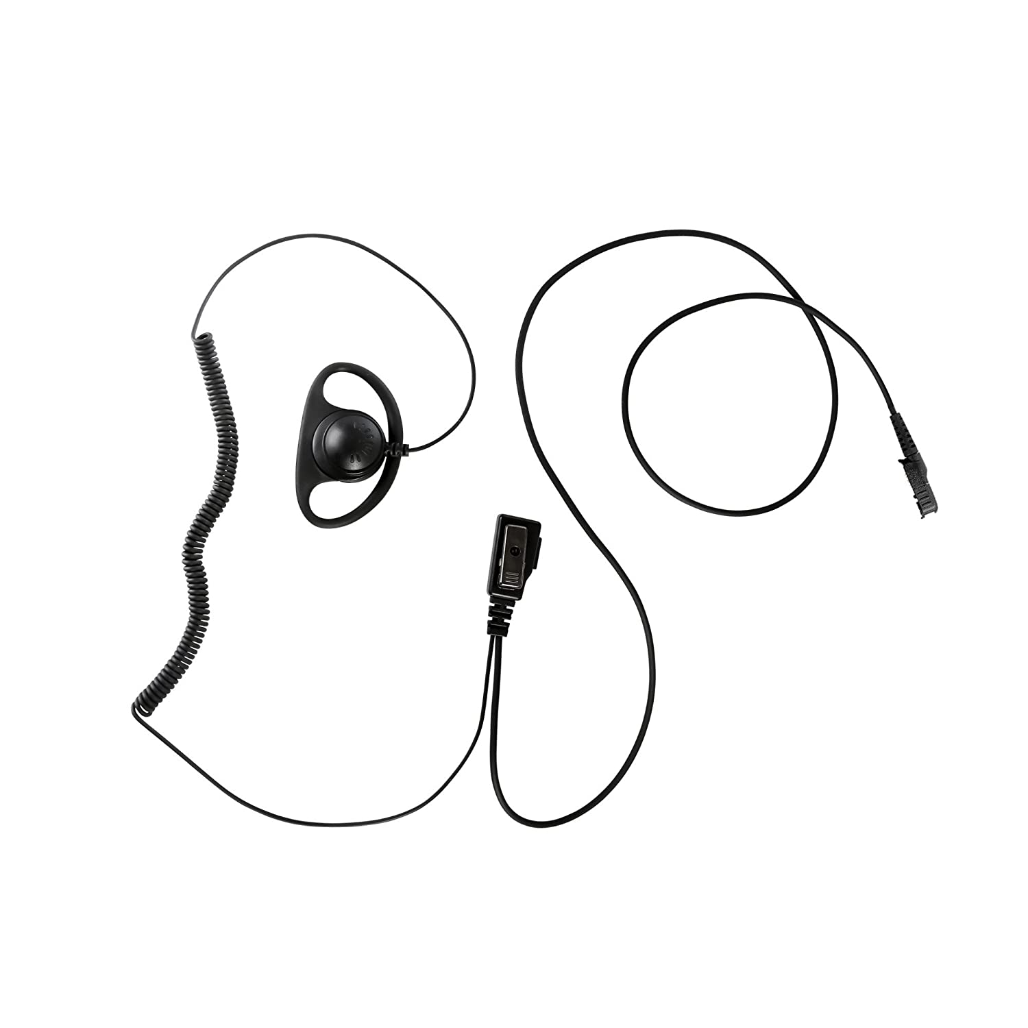 Maxtop AEH0407D-AX D Shape Clip-Ear Earhanger with PTT for Motorola MOTOTRBO Two Way Radio DP2400 DP2600 XPR3300