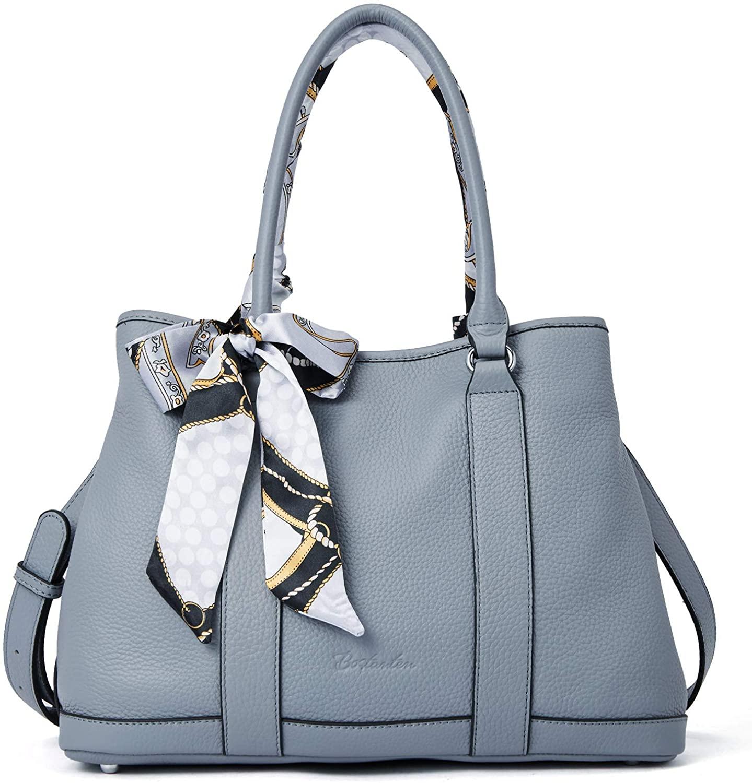 BOSTANTEN Designer Handbags Genuine Soft Leather Tote Satchel Handbag Top Handle Shoulder Purses for Women