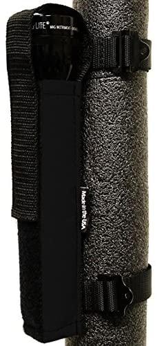 Bartact Roll Bar Multi D Cell Flashlight Holder Black