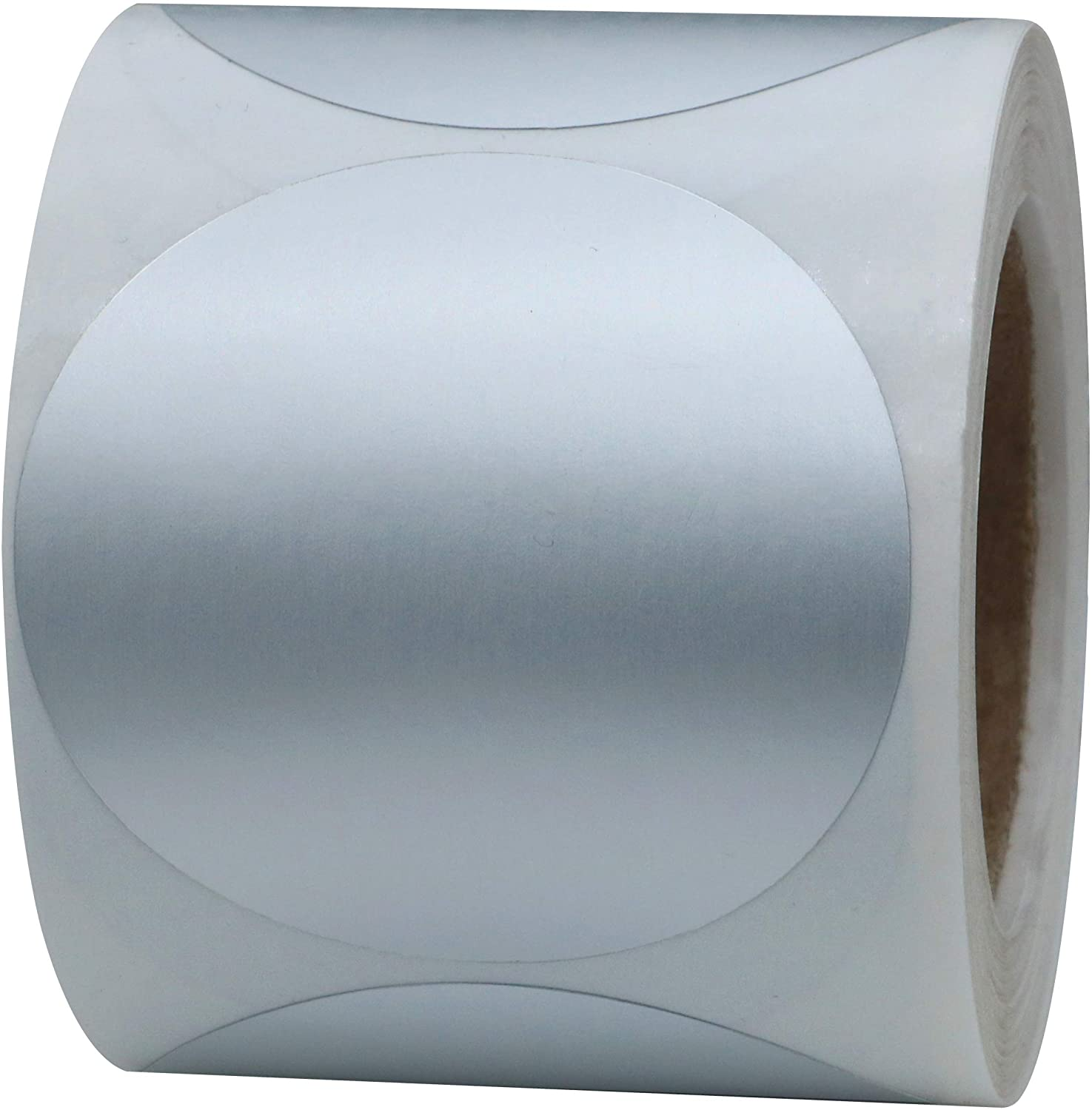 Aleplay Silver Metallic Labels 2 inch 51mm Round Color Coding Dots Stickers Total 300 Per Roll (10 Rolls)