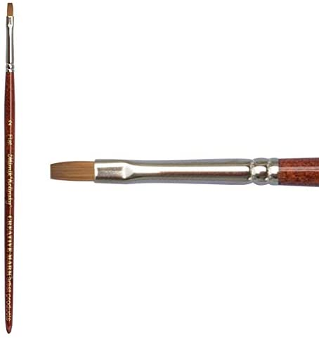 Creative Mark Mimik Kolinsky Synthetic Sable Short Handled Brush- Flat #2
