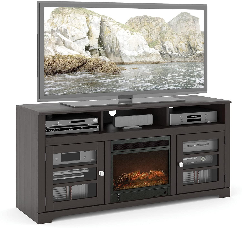 Sonax West Lake 60-Inch Fireplace Bench in Mocha Black
