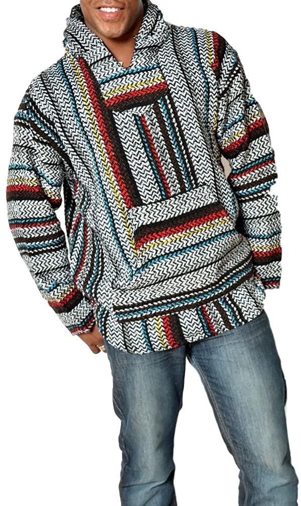 Baja Joe Striped Woven Eco-Friendly Jacket Coat Hoodie (pinstripe, X-Small)