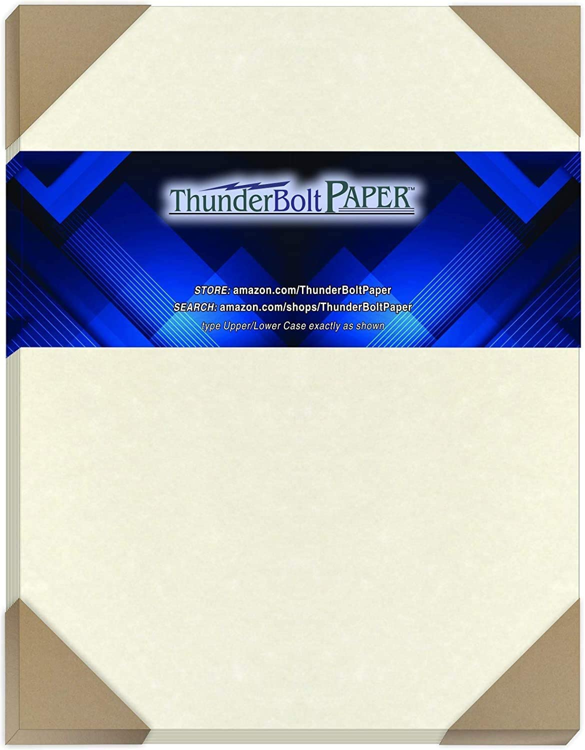 50 Natural Parchment 60# Text (=24# Bond) Paper Sheets - 8.5 X 11 Inches Standard Letter Flyer Size - 60 Pound is Not Card Weight - Vintage Colored Old Parchment Semblance