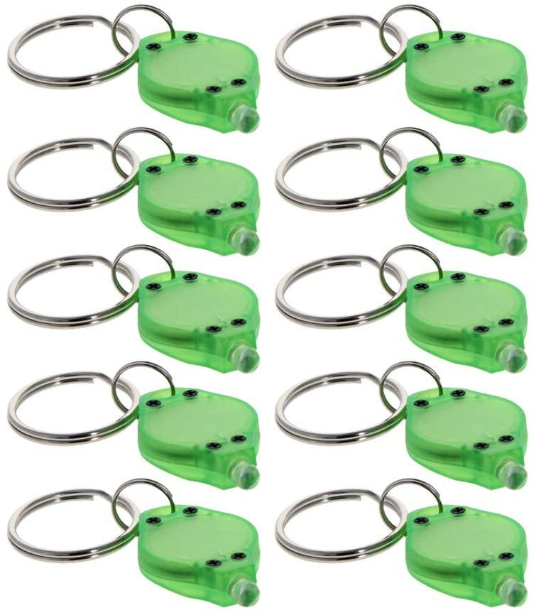 Othmro plastic LED Keychain Light Green Shell Transparent White Light Purple shell transparent 10pcs