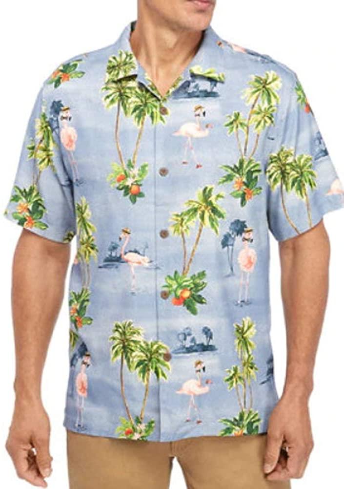 Tommy Bahama Flock Party Silk Camp Shirt