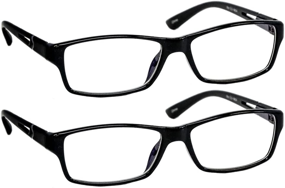 Black Computer Reading Glasses 1.25 Protect Your Eyes Against Eye Strain, Fatigue and Dry Eyes from Digital Gear with Anti Blue Light, Anti UV, Anti Glare, and are Anti Reflective