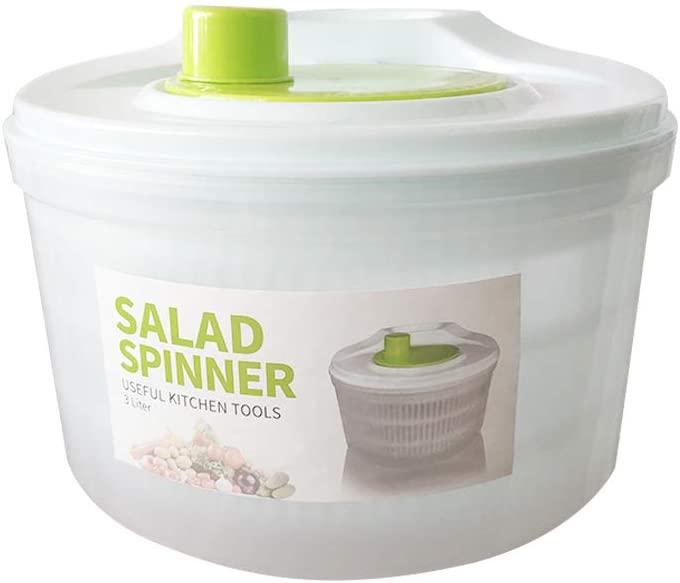 Large Salad Spinner Vegetable Washer Fruit Veggie Bowl Collapsible Salad Spinner with Lid Veggie Dryer Set for Kitchen Tools of Lettuce Dryer Salad Shooter