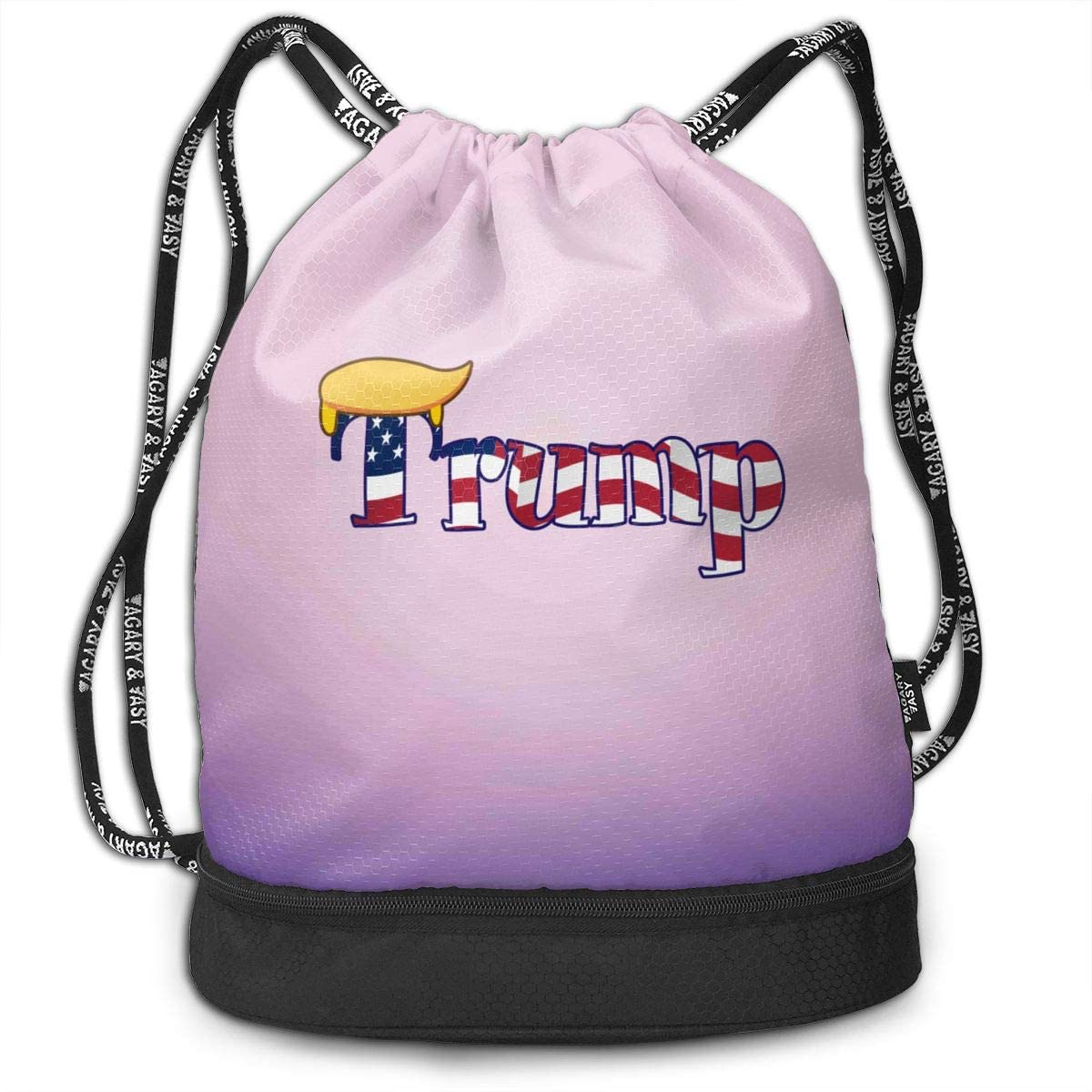 Sport Swimming Yoga Drawstring Backpack,Trump Yellow Hair 1 Patriotic Shoulder School Bag Lightweight for Students Teens Boy Girl Travel Camping