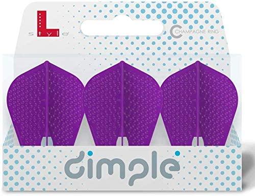 LSTYLE Dart Flights: L9d PRO Fantail Shape - Dimpled Texture Flight