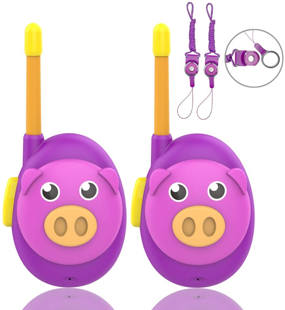 HUNICOM Kids Walkie Talkies, Children Toy Walkie Talkies for Kids, Two Way Radios Easy to Use Kid Walkie Talkie, Best Gifts Walky Talky Toys for Boys and Girls, 2 Pack