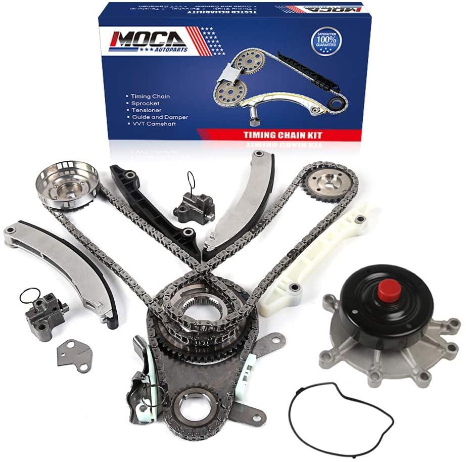 MOCA Timing Chain Kit Water Pump for Jeep Liberty & Dodge Ram 1500 2002-2003 3.7L V6 - JETC Cam Gear