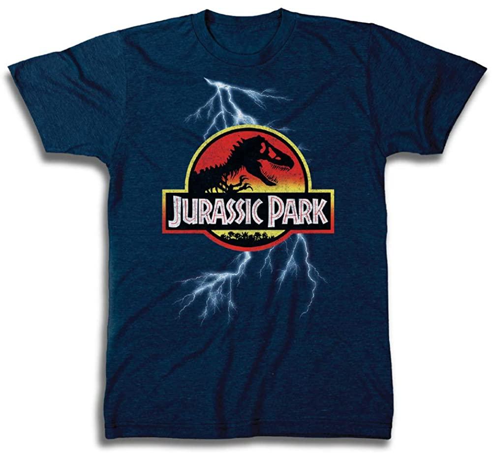 Jurassic Park Mens Logo Shirt Classic 25th Anniversary Tee - Jurassic World T-Rex Shirt