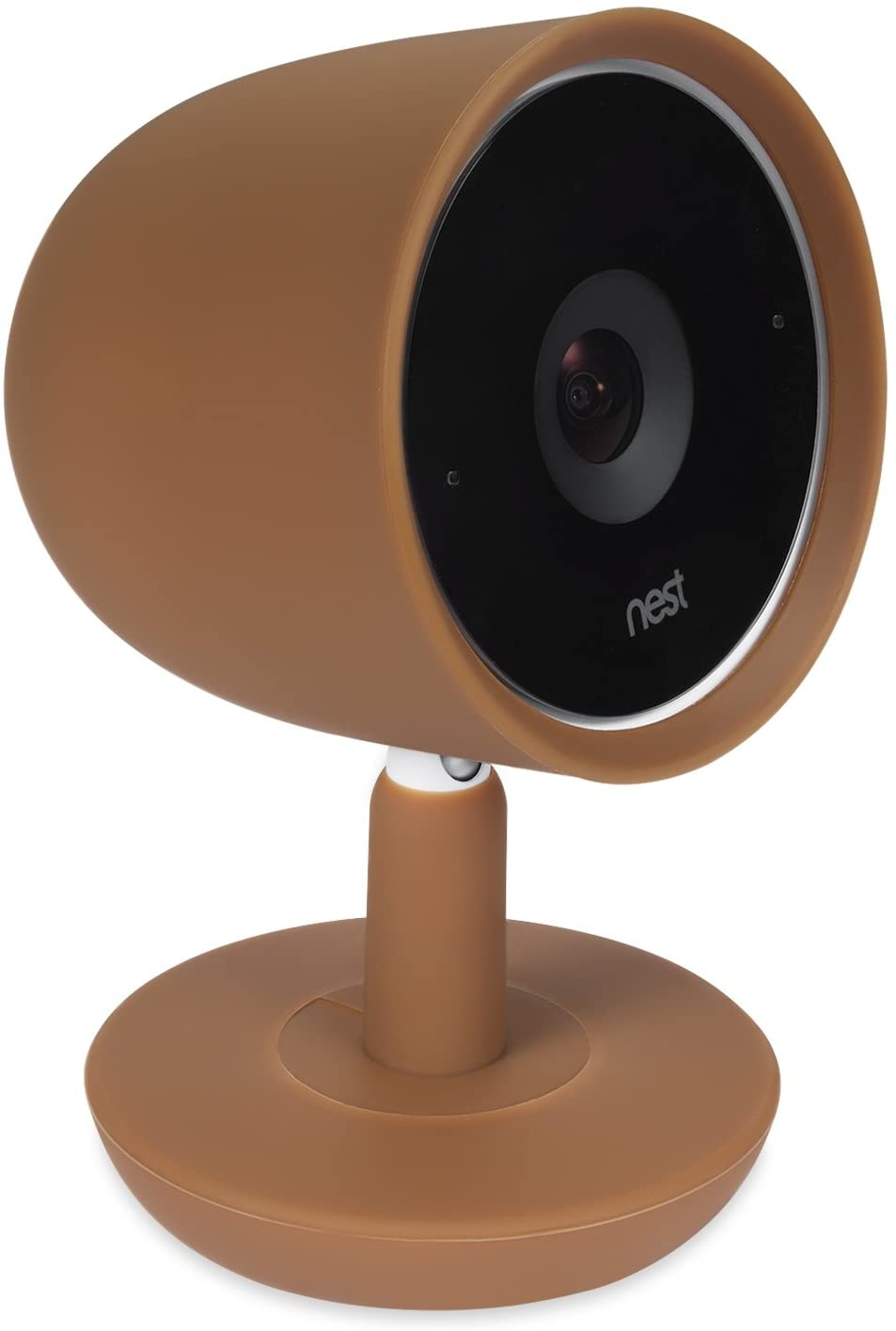 Colorful Silicone Skins Compatible with Nest Cam IQ Security Camera; Camouflage and Accessorize Your Nest Cam IQ Plus Camera in Your Favorite Colors – by Wasserstein (1 Pack, Brown)