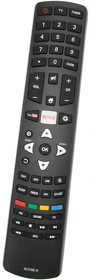 New RC3100L14 Remote Control for TCL Smart 55