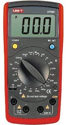 UNI-T UT603 LCR Meter Resistors Capacitors Inductors Tester Resistance 200Ω-20MΩ Capacitance(C) 2nF-20H Inductance 2mH-20H