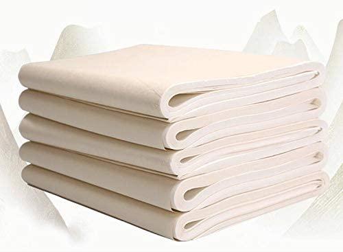 Tianjintang Chinese Calligraphy Sumi Ink Writing Watercolor Painting Blank Xuan Paper Rice Paper Banshengshu Xuanzhi 半生熟宣纸 34cm x138cm 100 Sheets