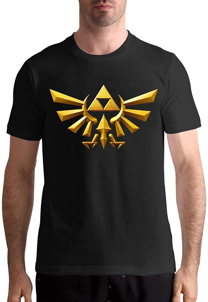 Moc.Deamiarr Men's The Legend of Zelda Shirt Graphic Design Black