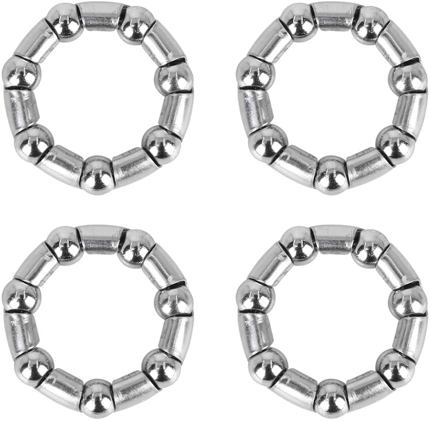 X AUTOHAUX 4pcs 37mm x 7 Ball Bearing Cages Crank Bearings Wheel Bearing Retainer for Bicycle