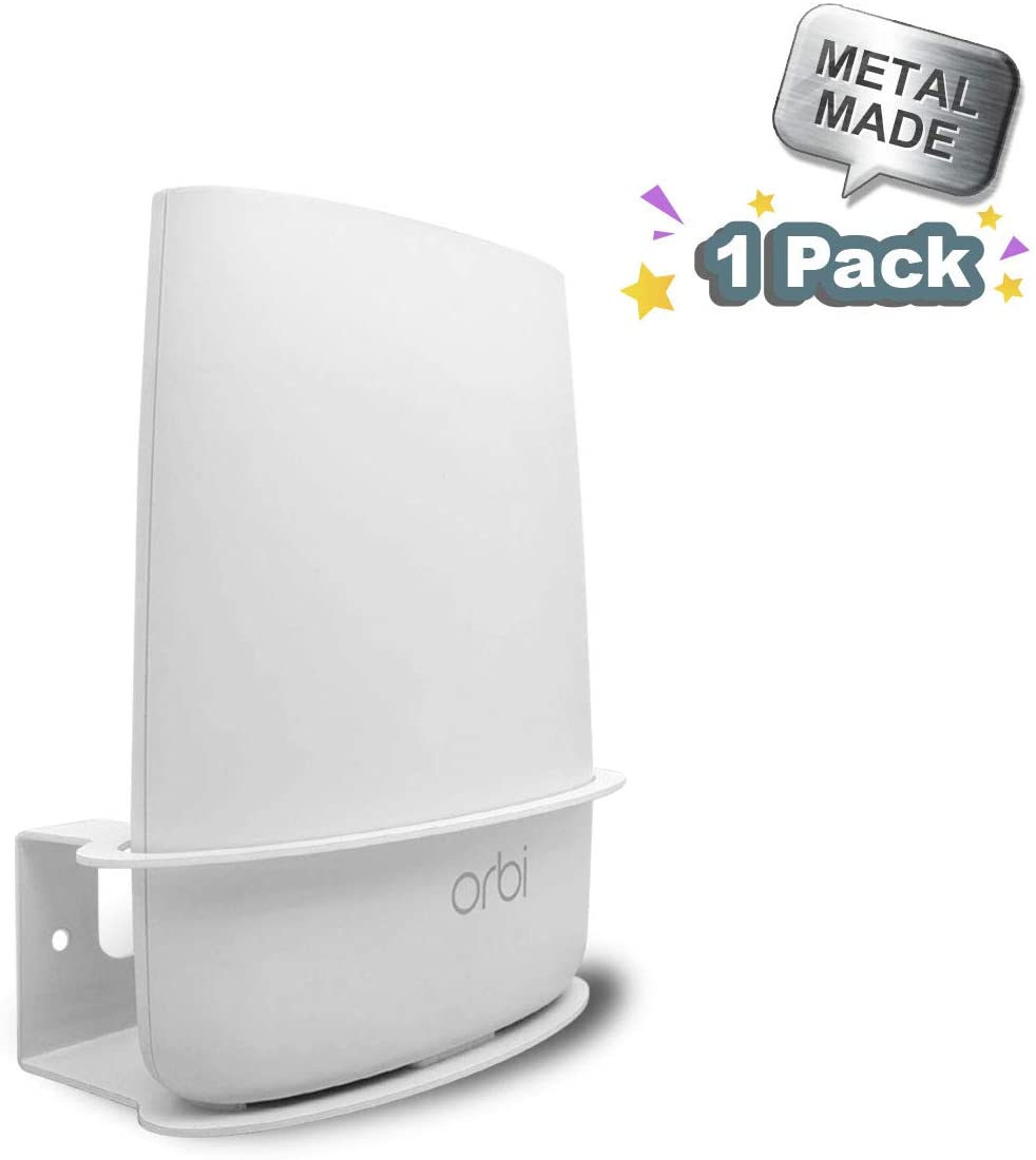 ALLICAVER Compatible Wall Mount Netgear Orbi, Sturdy Metal Made Mount Stand Holder Compatible Orbi WiFi Router RBS40, RBK40, RBS50, RBK50, AC2200, AC3000. (1 pcs)