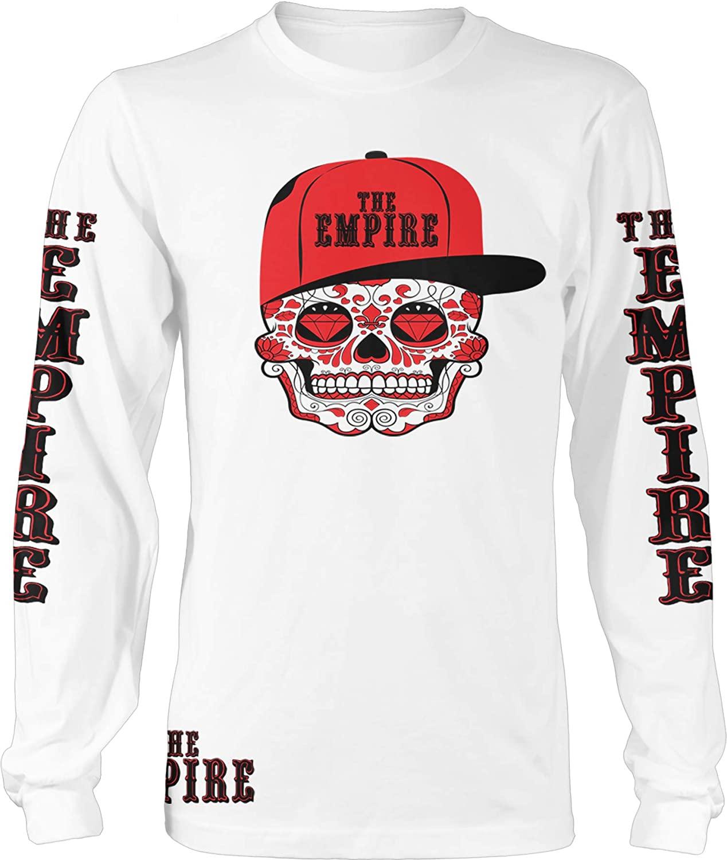 Millionaire Mentality The Empire Candy Skull White Long Sleeve T-Shirt