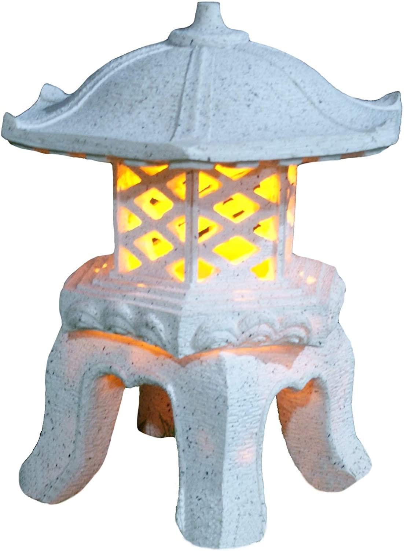 "Garden Solar lamp, Garden Decor, TIAAN 14""Height Japanese Style Lantern Solar Garden lamp Solar Pagoda Light"
