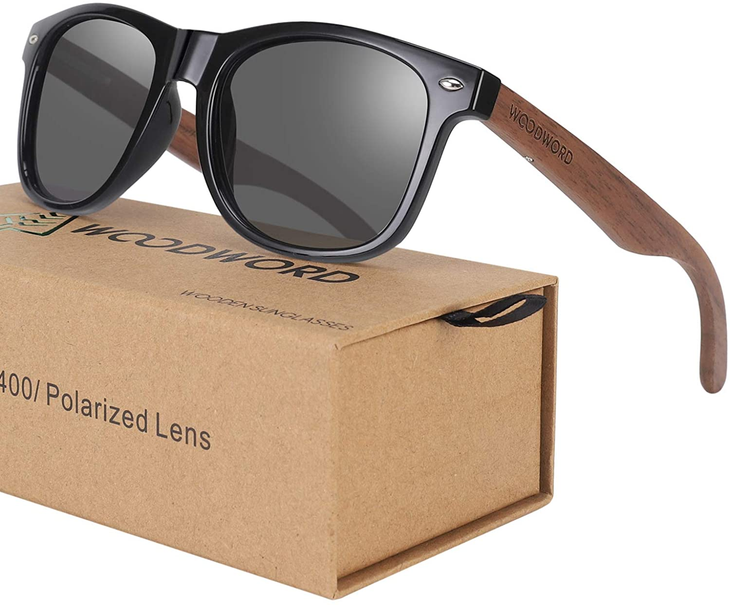 Wood Sunglasses for Men and Women - Polarized Sunglasses with Gift Case - Suitable for Fishing Driving Golf Travelling