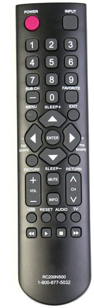 NKF New RC200NS00 Remote Control for Sanyo TV DP24E14M DP32D53 DP32D53M DP39D14M