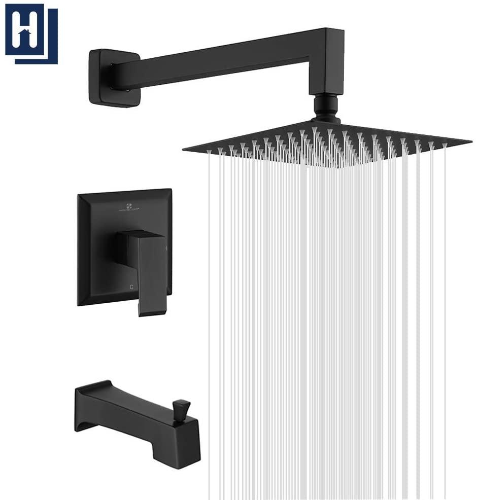 HOMELODY Shower Faucet Shower Valve Trim Kit Tub and Shower Faucet Set Rainfall Shower System with 8