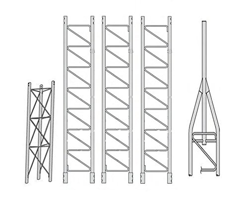 ROHN 45SS040 45G Series 40' Self Supporting Tower Kit, No Ice