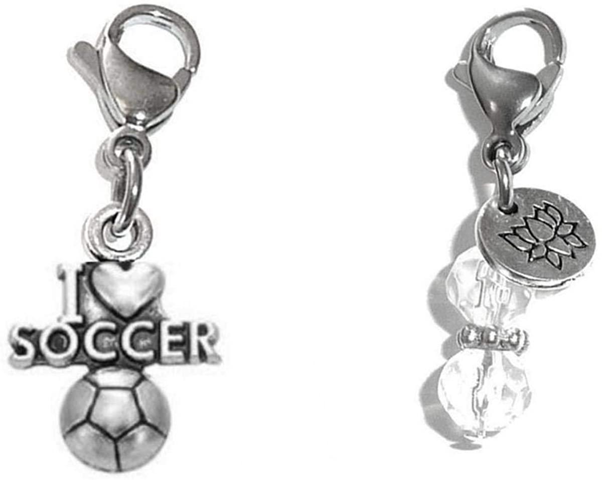Hidden Hollow Beads Clip On Charm, Bag, Purse, Handbag, Message, Keychain, Zipper Pull, Bracelets, Necklaces, Jewelry