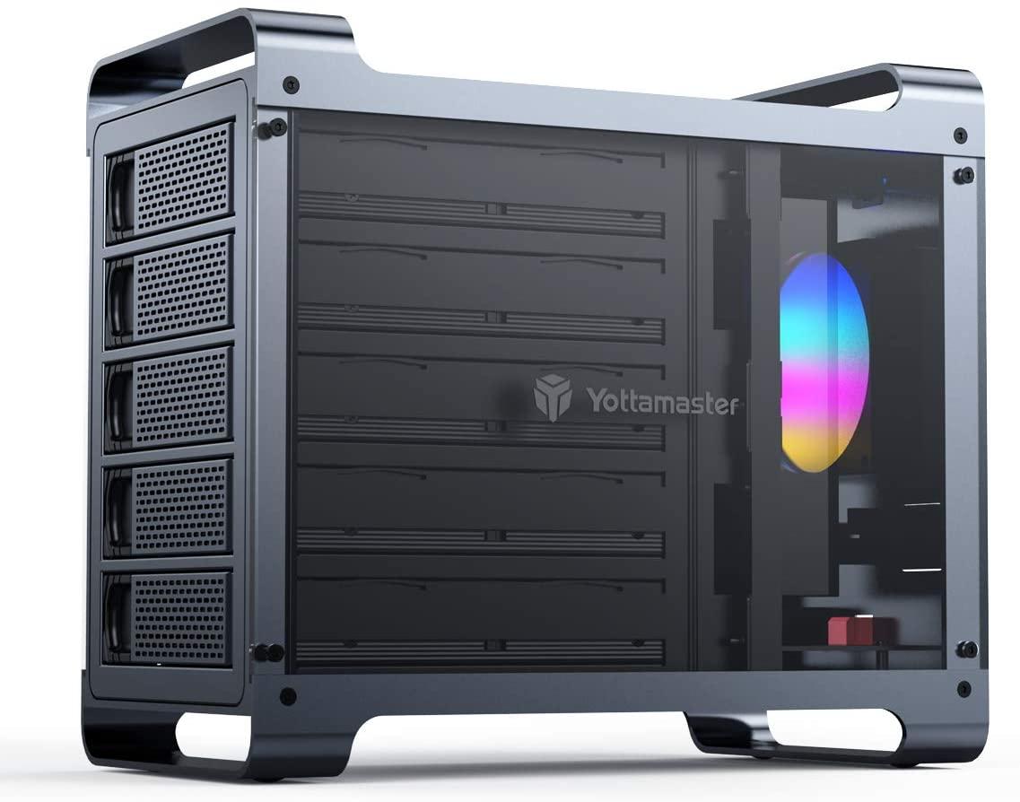 Yottamaster 5 Bay RAID External Hard Drive Enclosure 2.5