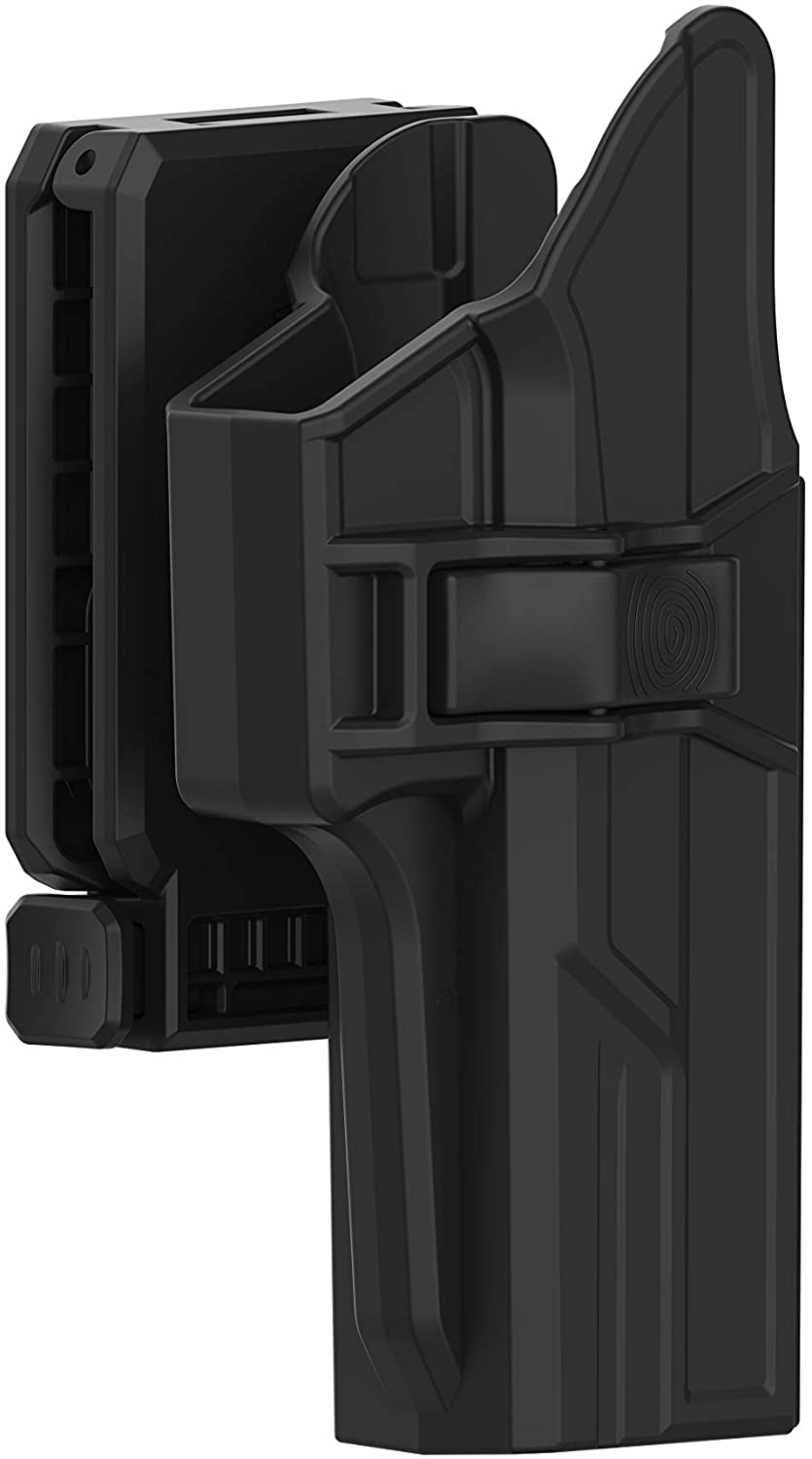 TEGE Holster for Glock 17 22 31 (Gen 1-5), 360° Adjustable Tactical Outside Waistband Open Carry Belt Holster Fit G17 G22 G31 with Rapid Release, OWB Carry, Right-Handed