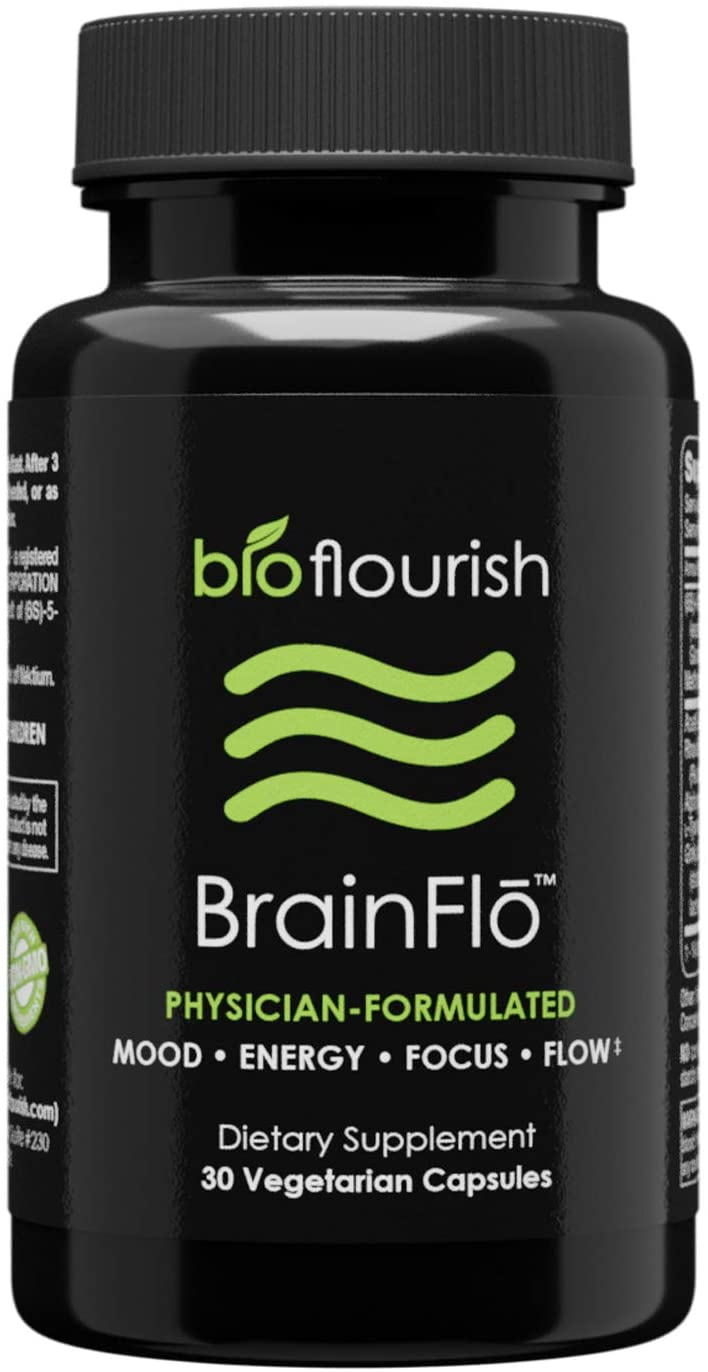 Nootropic Energy and Focus Brain Supplement: Non GMO Natural Cognitive Enhancement Pills for Mood, Memory, Mental Clarity, Concentration & Flow - Daily Brain Boosting Support Supplements - 30 Capsules