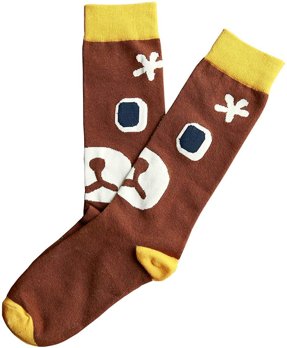 XSBQBC Womens Cute Cartoon Animal Cotton Tube Socks, Calf Socks