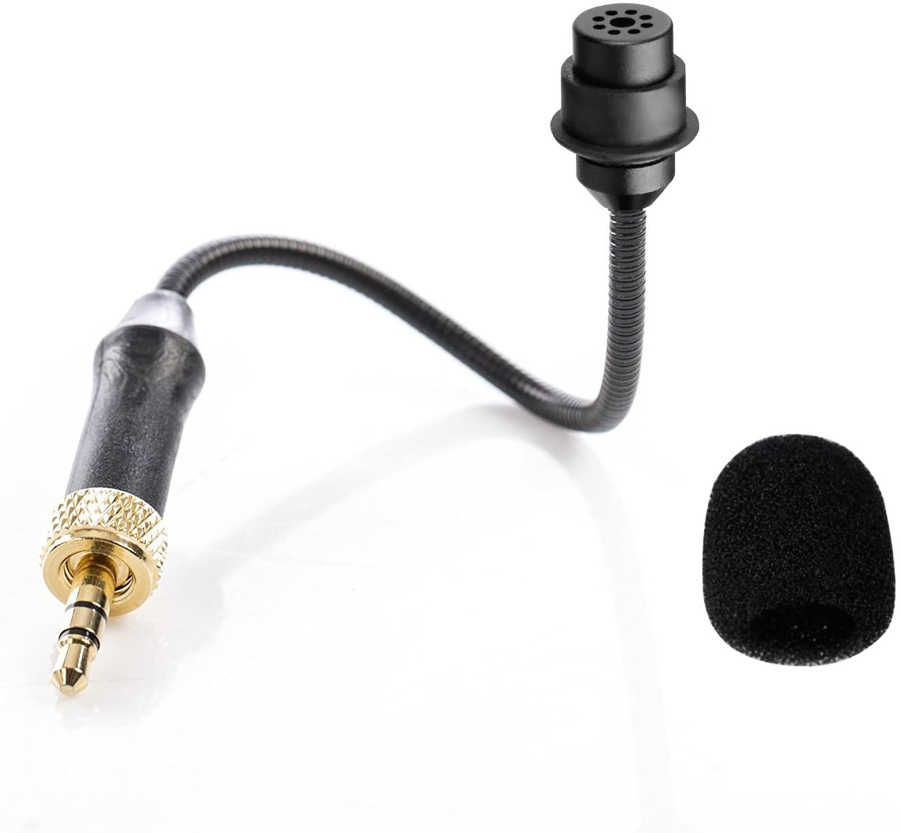 BOYA by-UM2 3.5mm TRS Locking-Type Gooseneck Omnidirectional Flexible Audio Microphone for Wireless Lavalier Microphone System BOYA by-WM4 BY-WM2G by-WM5 by-WM6 by-WM8 Saramonic UWMIC9 UWMIC15 System