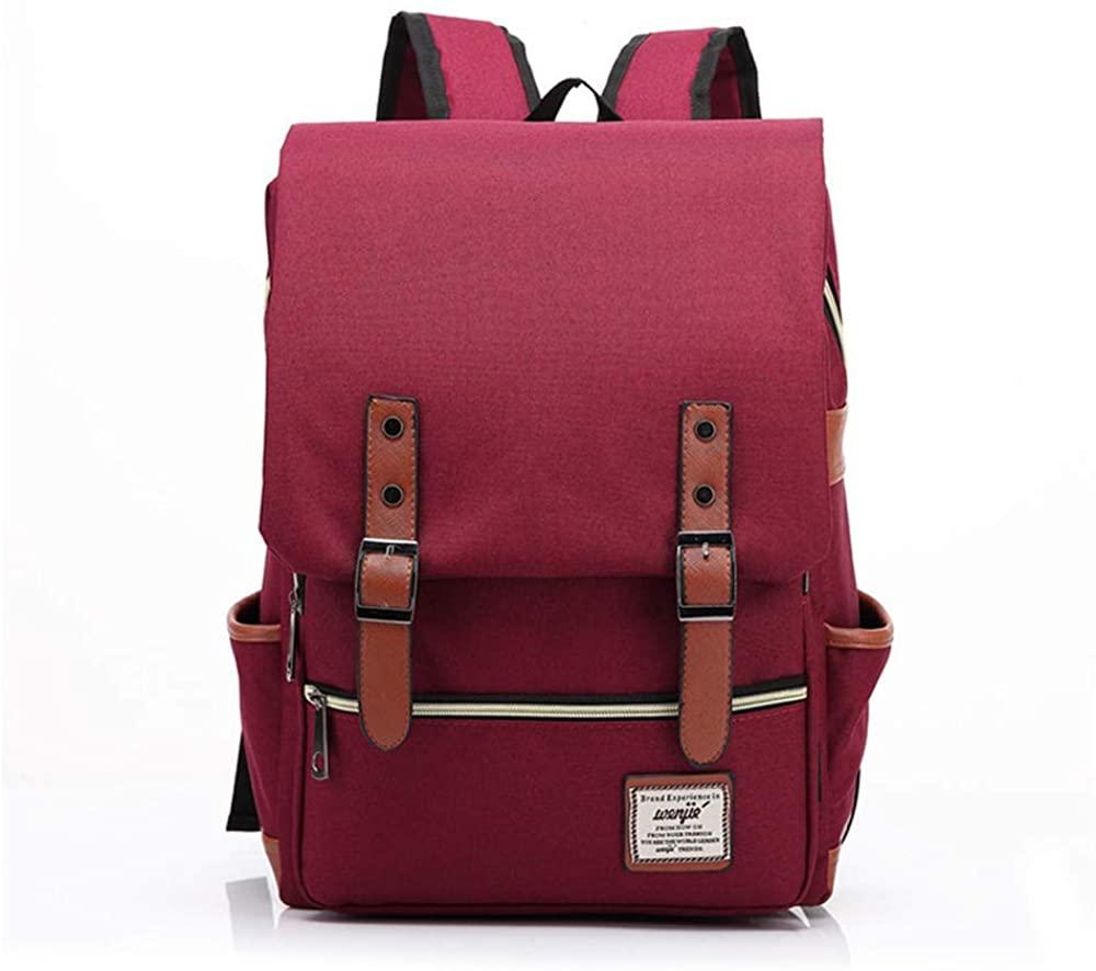 Vintage 15.6 Inch Laptop Backpack, College Water Resistant Business Travel Bag