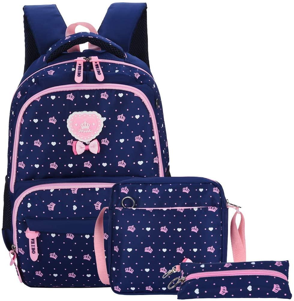 School Backpack VBG VBIGER School Bags for Girl (Blue)