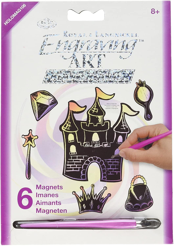 ROYAL BRUSH HOLOMAG-106 Engraving Magnets Princess Fantasy, Multicolor