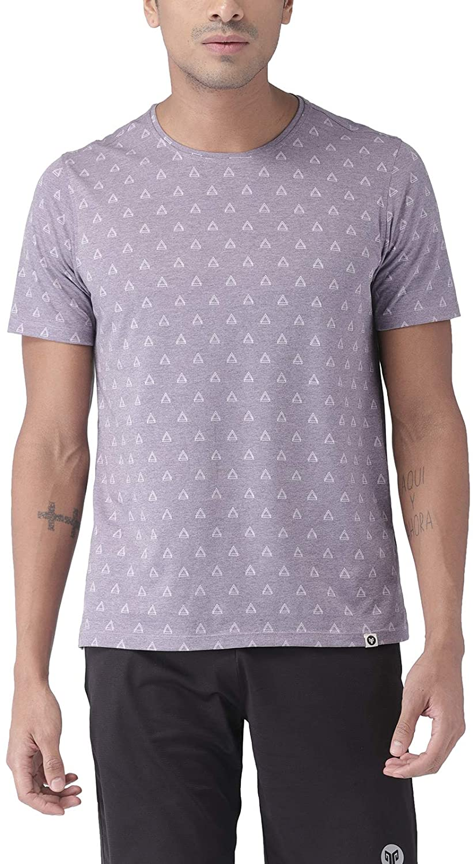 2Go Activewear Men's Printed Regular Fit T-Shirt