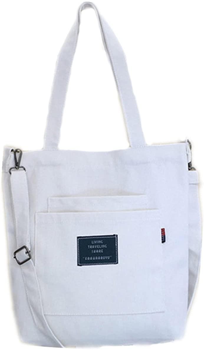Women's Canvas Handbags Simple Casual Top Handle Tote Bag Crossbody Shoulder Bag