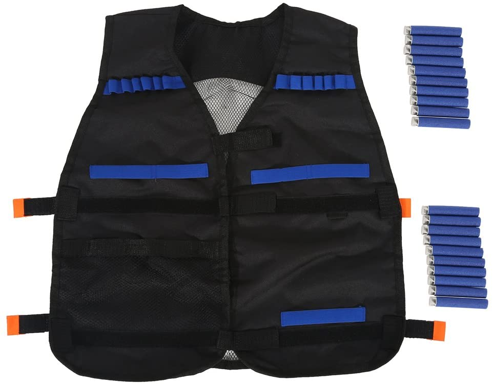 Kids Tactical Vest Kit for Nerf Guns N-Strike Elite Series with 20PCS Bullet Darts