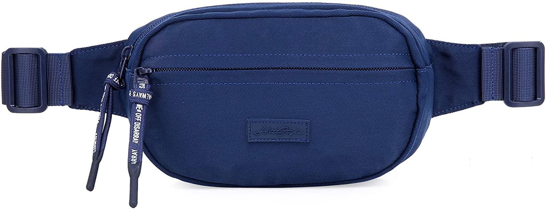 552s Small Plain Fanny Pack Waist Hip Bag, Navy