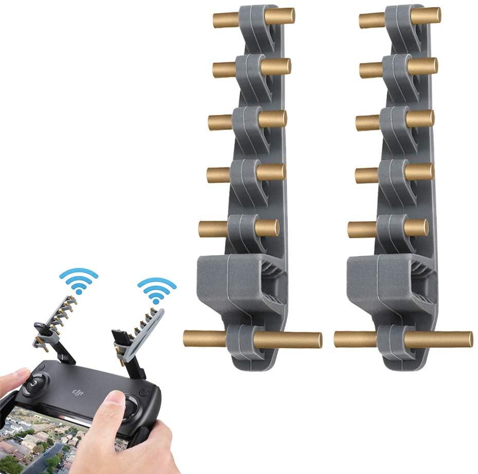 (2 pcs) Mavic Mini Remote Controller Signal Booster,Universal Yagi Antenna Amplifier Range Extender Compatible with DJI Mavic 2/Mavic air/Mavic pro/Spark/Phantom Series/EVO II Transmitter (5.8Ghz)