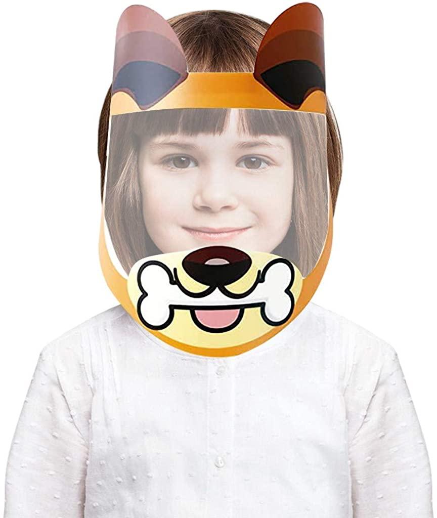 Weginte 1PC Kids Face Washable Reusable Bandanas Children Breathable Kids Student Outdoor Clear Wide Visor Cute 3D