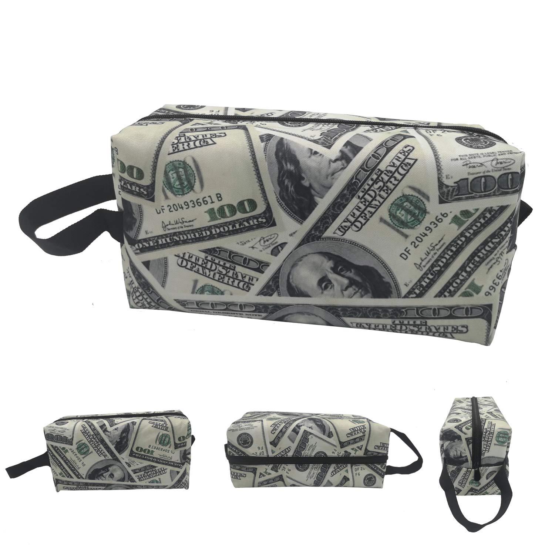 100 Dollar Money Makeup Bag Cosmetic Toiletry Travel Bag Organizer Pouch For Women Men