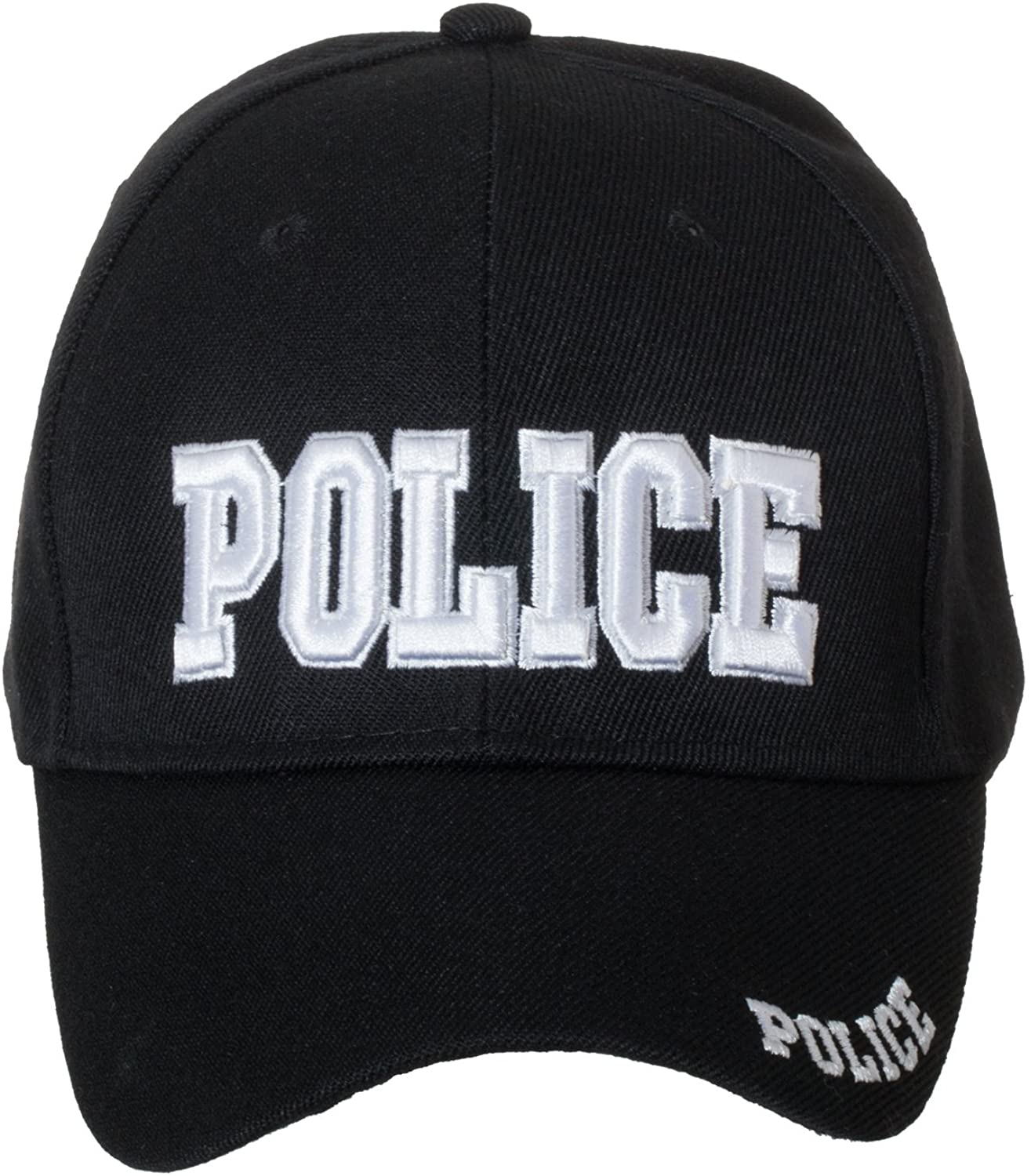 Deluxe Black Embroidered Law Enforcement/Security Novelty Baseball Caps